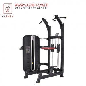 دستگاه بدنسازی بارفیکس کمکی سری MCF شرکت MBH Fitness